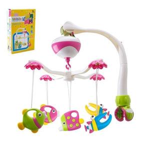 Móbile Musical Giratório Brinquedo Para Berço Bebê