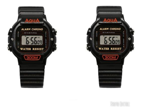 10 Relógio Original Aqua Masculino A Prova Dagua Original