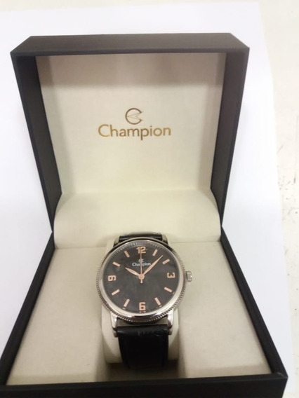 Relógio Champion Social Prata Visor Preto Cn20408t + Frete