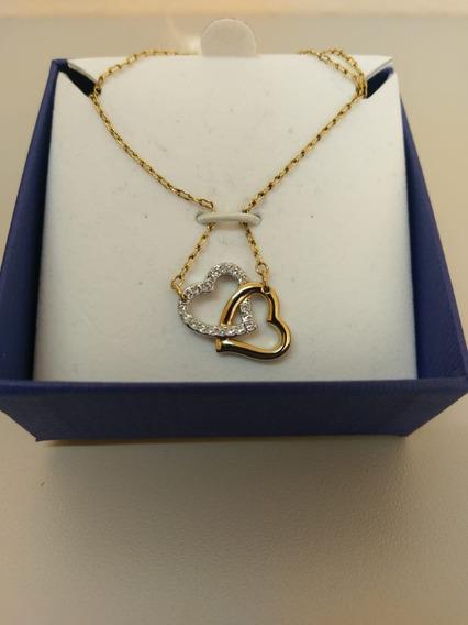 Swarovski Collar Dije Corazón