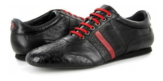 Zapatos Cuadra 20kpal T Avestruz/lizard Negro Rojo 25-31 Ca