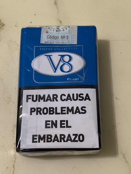 Cigarrillos V8 Pack Por 10 Rubios Con Filtro