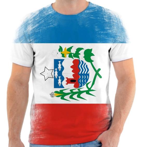 Camiseta, Camisa Amo Alagoas Bandeira Estado Do Alagoas