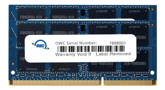 Memoria Ram 16gb (2x8gb) Ddr3 1333mhz Pc3-10600 Sodimm Owc