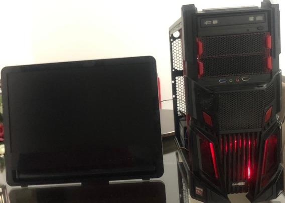 Computador Gamer Com Monitor Super Oferta Para Vender Rápido
