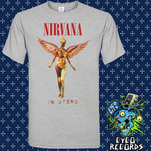 Imagen 1 de 2 de Nirvana - In Utero - Gris - Rock - Polera- Cyco Records