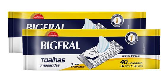 Kit Toalha Umedecida Bigfral - 80 Unidades