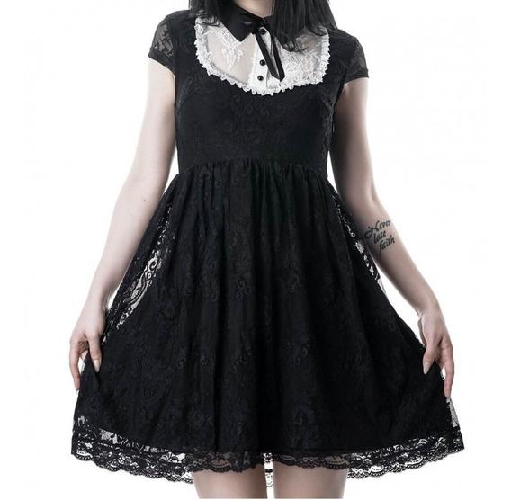 Vestido Merlina Gotico Te786