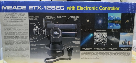 Vendo Telescópio Meade Etx125 Ec Pouquíssimo Uso Na Caixa.