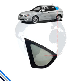 Vidro Janela Fixa Traseira Esquerda Subaru Impreza 2008-2011