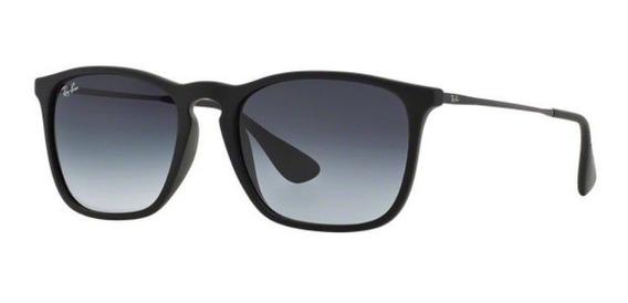 Oculos Sol Ray Ban Chris Rb4187l 622/8g 54 Cinza Degradê