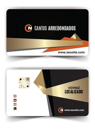 Cartão De Visita Verniz Localizado Cantos Arredondados 500x