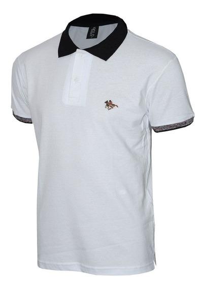 Camisa Polo Com Logo Em Bordado Especial Colorido