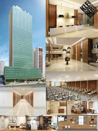 Sala Comercial Para Locação - 31,65 M² C/ Lavabo E Copa. - Lj00054