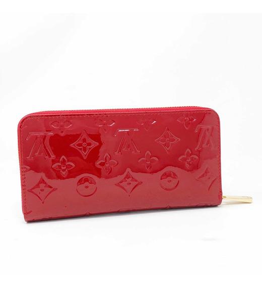 Cartera Original Louis Vuitton Zippy Wallet Color Rojo