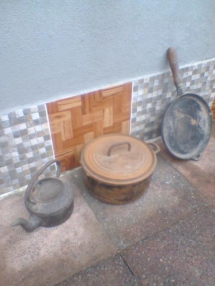 Olla Fundición N 16, Pava Y Churrasquera (precio X Lote)