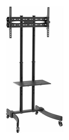 """Suporte Brasforma SBRR0.5 de chão para TV/Monitor de 37"""" até 70"""" preto"""