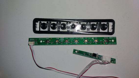 Teclado + Botoes+sensor De Controle Remoto Tv Hbtv 32l06hd