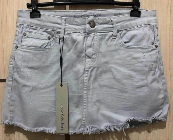 Saia Jeans Calvin Klein Desfiada - Nova - Original