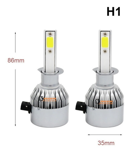 2 Bombillos Luz Led  H1 7600lumens C6 Moto/carro Alta Potenc