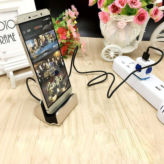 Base Carregadora Dock Station Usb Type-c Samsung Xiaomi Moto