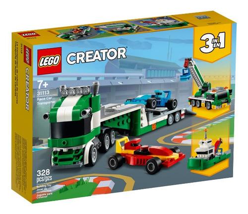 Lego Creator 3 Em 1 Transportador De Carros De Corrida 31113