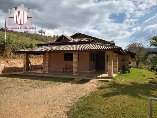 Ótima Chácara Com 03 Dormitórios, Plana, Vista Deslumbrante, Pomar,  À Venda, 1600 M² Por R$ 430.000 - Rural - Socorro/sp - Ch0796