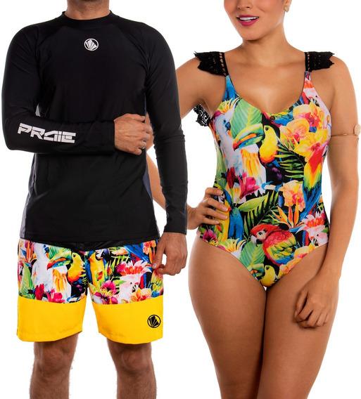 Vestidos De Baño Enterizo Conjunto Para Parejas 2202 + 2129