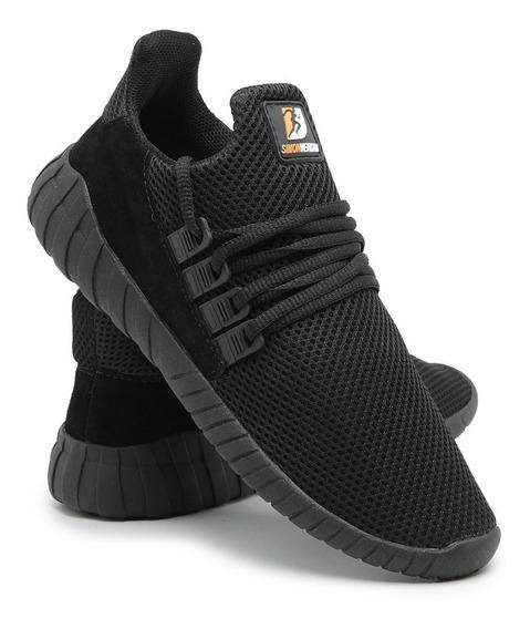 Tênis Sneaker Super Leve Calce Fácil Conforto Running