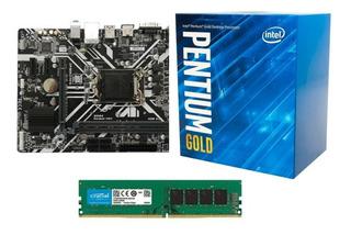 Kit Pentium G5400 + Placa Mae H310 + Memoria 8gb 2666mhz