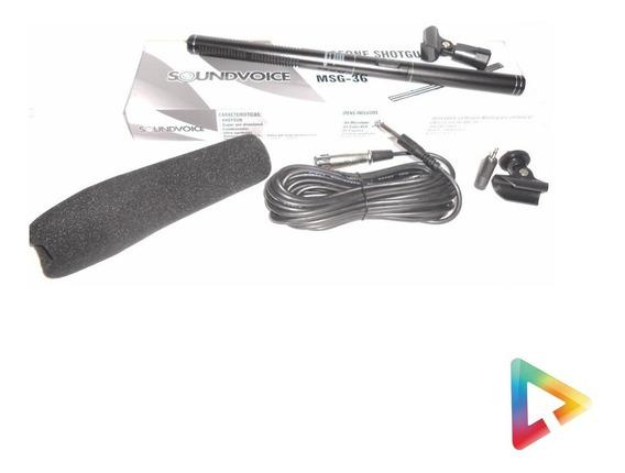 Microfone Direcional Soundvoice Msg36 Shotgun - Hl Infomusic