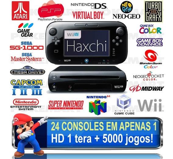 Nintendo Wii U Haxchi Hd 1 Tera 5000 Jogos + Garantia