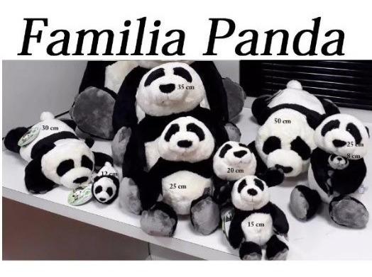 Família 8 Ursos Pelúcia Coleção - Apaixonados Por Pandas