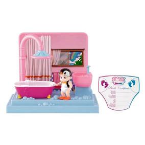 Mini Playset Baby Secrets - Hora Do Banho - Bebê Pinguim - C