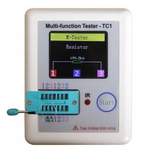 Testador De Componentes Eletronicos Lcr-tc1(bateria Inclusa)