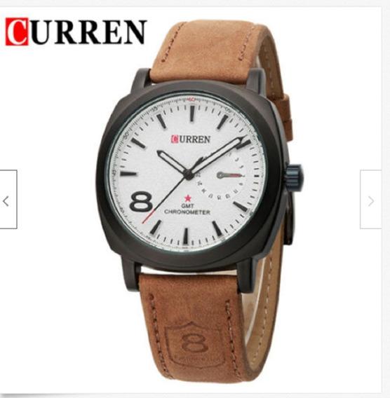 Reloj Curren Quarzo Deportivo Unisex Blanco
