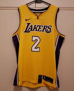 Camiseta Original Los Angeles Lakers, #2 Lonzo Ball