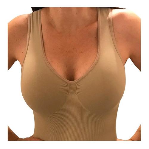 Imagen 1 de 10 de Camiseta Musculosa Modeladora Bretel Ancho - Aretha
