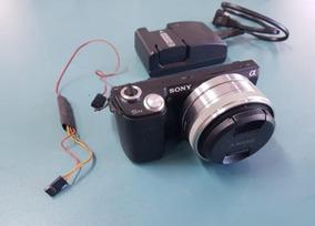 Camera Sony Nex 5n Lente 2.8 Fixa 16mm + Disparador P Drone