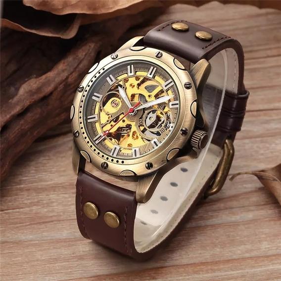Relógio Masculino Original Mecânico Automático Retrô