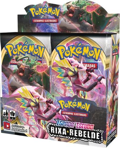 Booster Box Pokémon Espada E Escudo 2 Rixa Rebelde