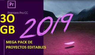 Mega Pack 30 Gb Plantillas Para Adobe Premier Editables 2019