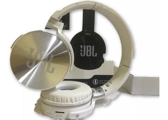 Fone De Ouvido Bluetooth Jb950 Head Fone Radio Fm Branco