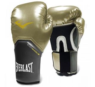 Luva Everlast - Muay Thai - Boxe Pro Style Elite [dourada]