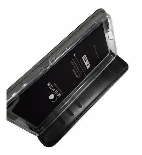 Sony Xperia Xa Funda Mercury De Cuero Negro Flip Cover Case
