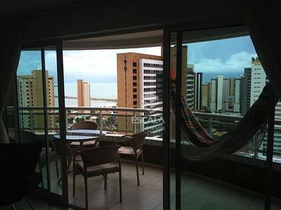 Apartamento Com 1 Quarto À Venda Ou Locação, 46 M² , Vista Mar, Suíte, Mobiliado, Área De Lazer - Praia De Iracema - Fortaleza/ce - Ap1137