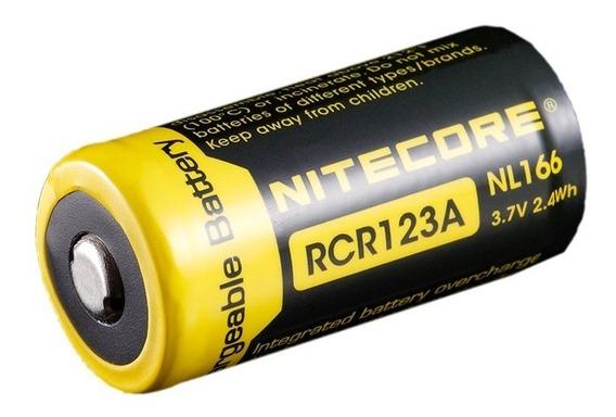 Bateria Nitecore Rcr123a C/ 650mah - Nl166 Recarregável