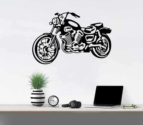Imagen 1 de 7 de Vinilos Decorativos Vinil Pared Motocicleta