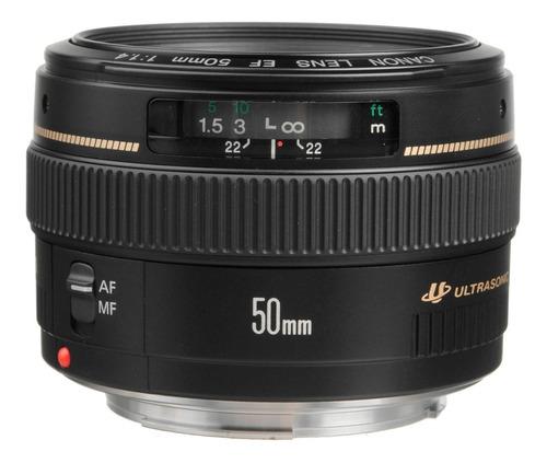 Lente Canon 50mm  F/1.4 Usm + Parasol - Nuevo - Tienda