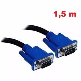 Cabo Vga Monitor Projetor Lcd Pc Tv 1,5 Metro Blindado 150cm